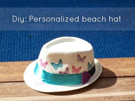 Customiza tu sombrero con decoupage. Diy: Personalized beach hat
