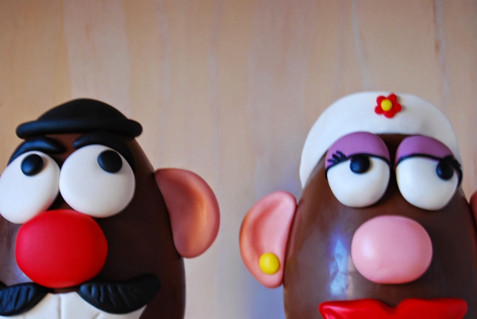 best mr. potato head in chocolate and fondant tutorial for easter. El mejor tuturial para huevo de pascua mr. potato de fondant
