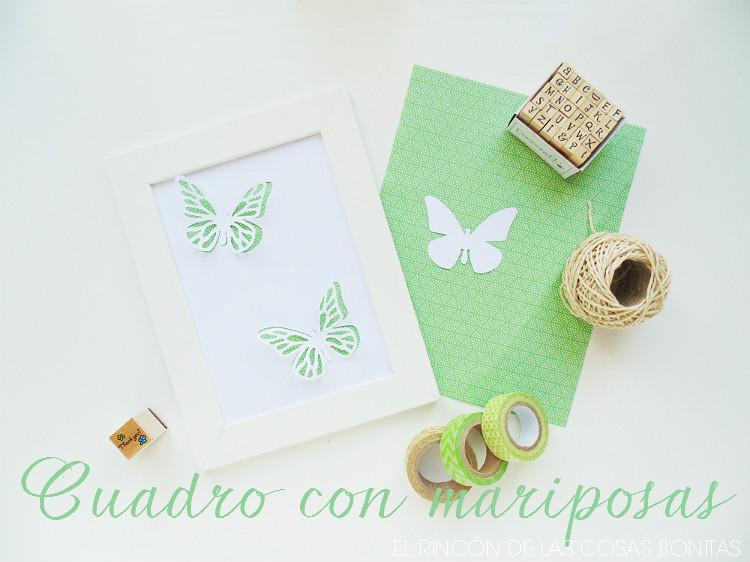 cuadro con mariposas troqueladas