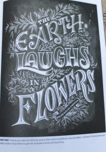 Chalk-lettering