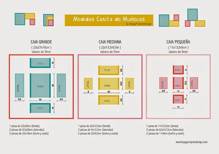 medidas y planos para casita de muñecas modular DIY