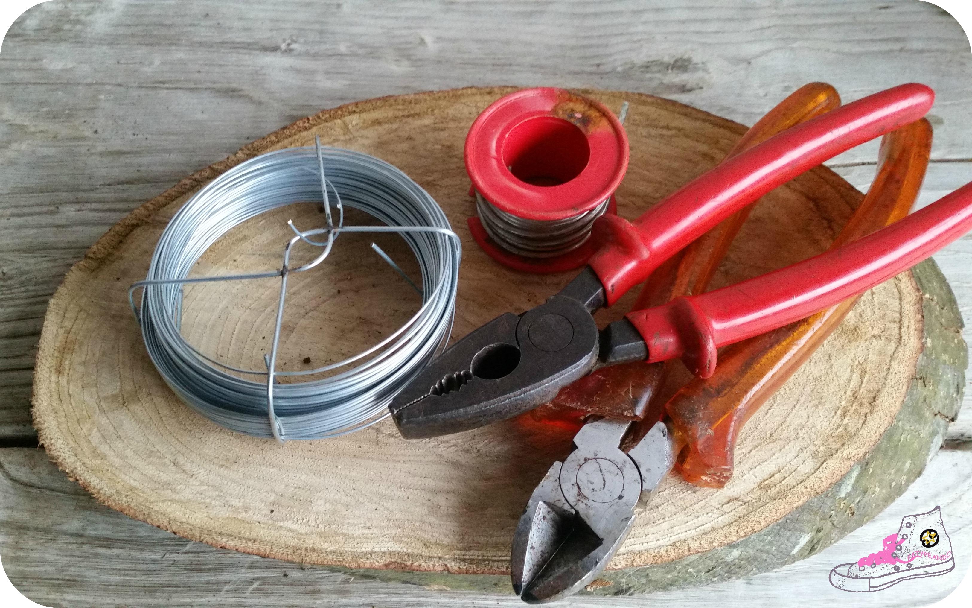 herramientas para hacer cesto de alambre