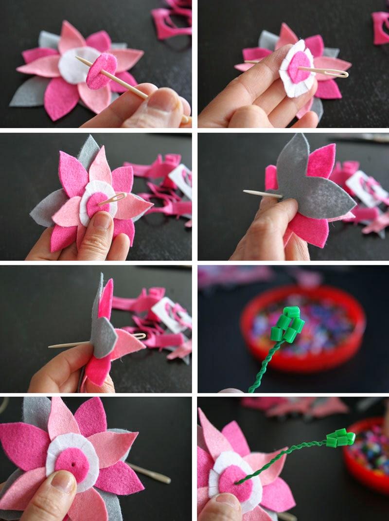 Taller de Creactividad: Diy diadema de flores de fieltro4