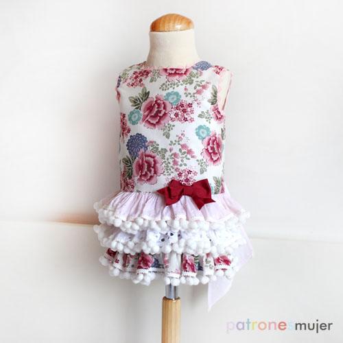 Vestido con falda de volantes: Patrón de niña. - Handbox Craft ...