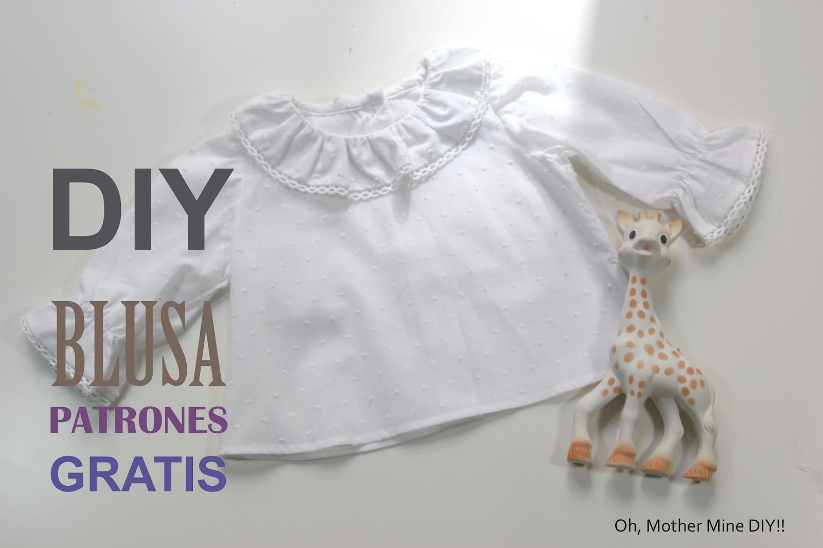 DIY Como hacer blusa para bebe (patrones gratis) - HANDBOX