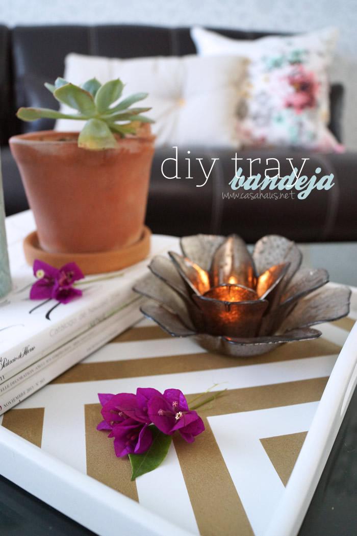 Gorgeous DIY decorative tray for your home - tutorial // Hermosa y sencilla bandeja decorativa, hazla tú mismo! // casahaus.net