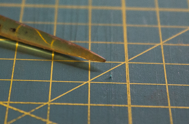 virutilla por usar cutter convencional tabla corte pángala