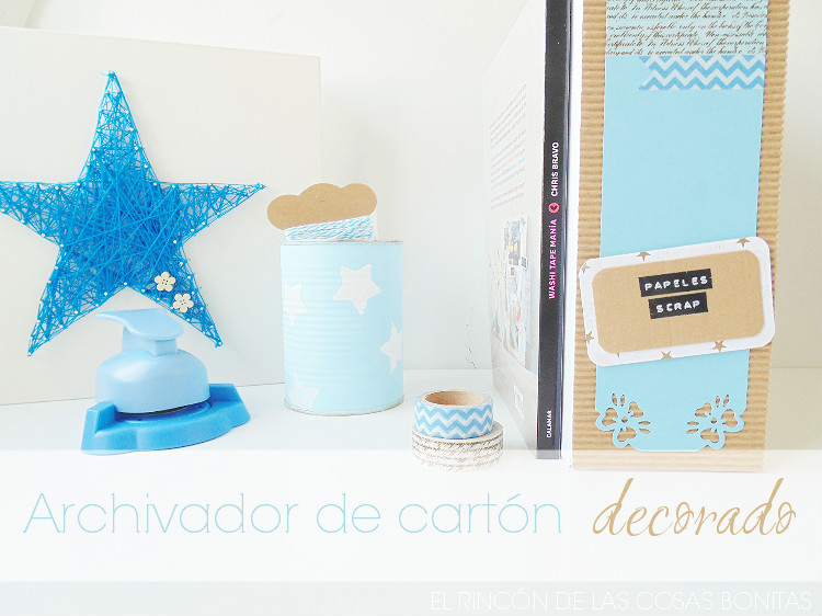 archivador de carton decorado