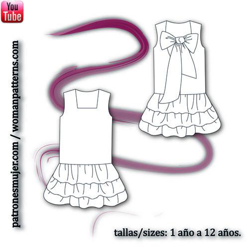 vestido con falda