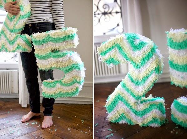 diy piñata número - Manualidad para cumpleaños