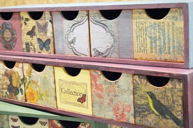 Cajones con decoración vintage