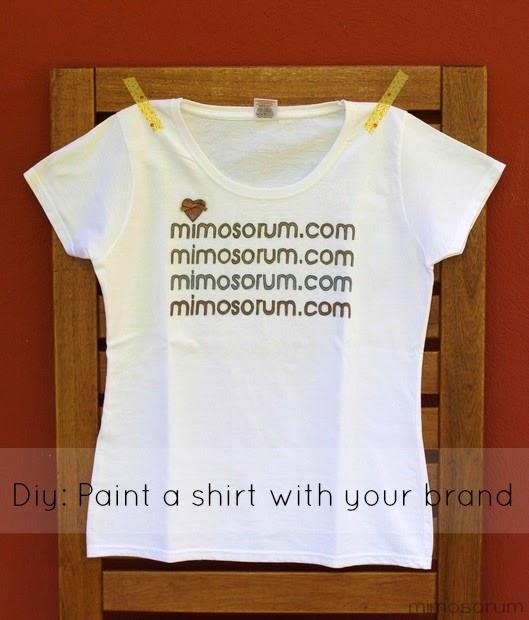 Pintar una camiseta con tu marca - Diy: paint a shirt with your brand