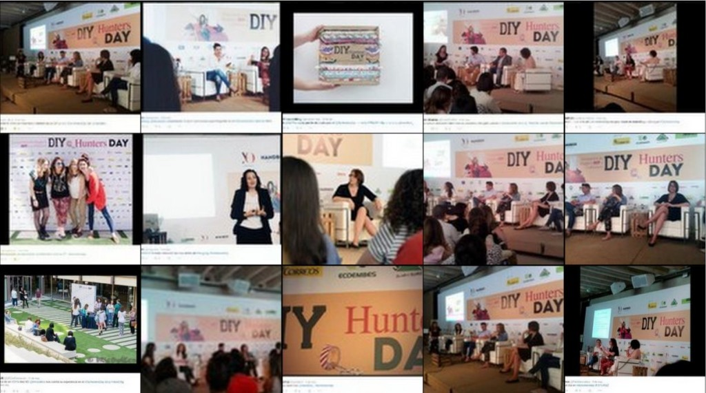 Resumen personas DIY Hunters Day Twitter