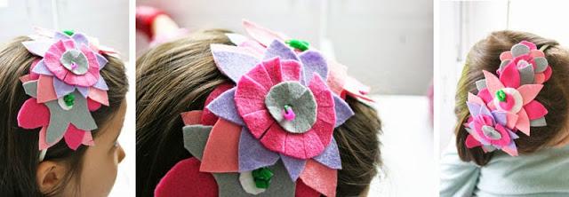 Taller de Creactividad: Diy diadema de flores de fieltro8