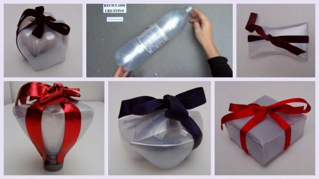Cajas de regalo con botellas de plástico pet