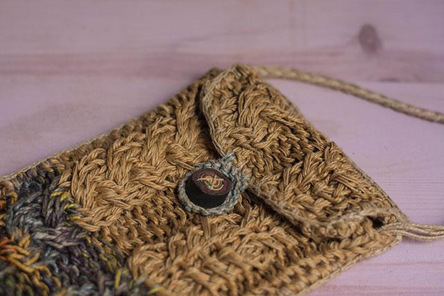 bolso pángala con botón de piel missoluciones-pángala