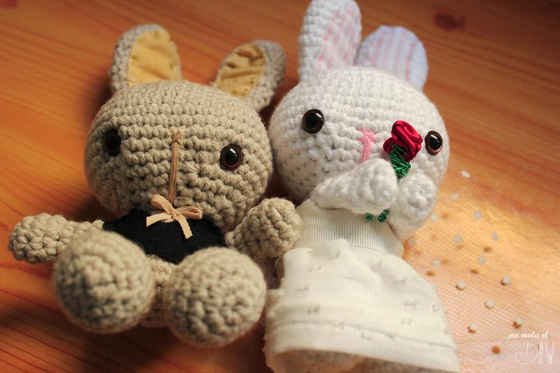 muñeco de boda amigurumi pareja de novios
