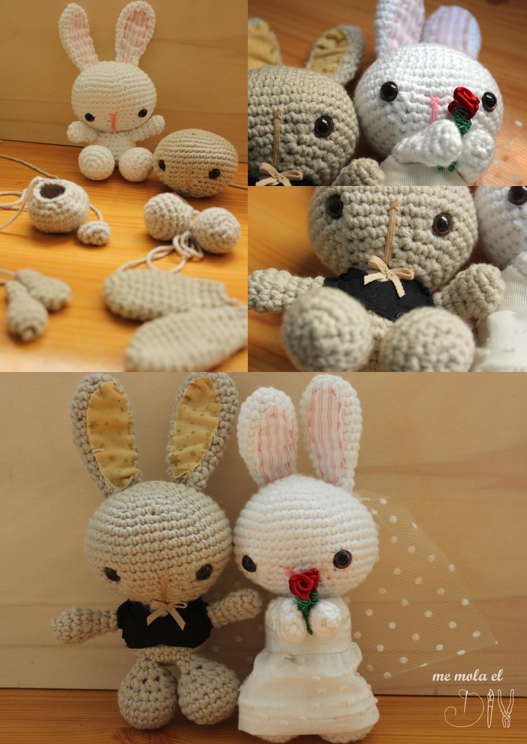 como hacer pareja de novios boda crochet