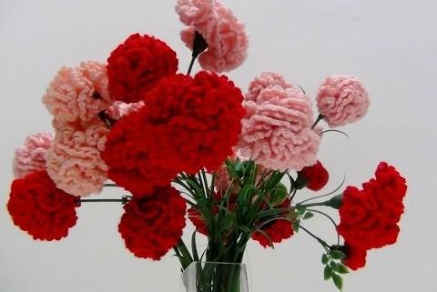 Claveles de ganchillo – Flores de crochet II - Handbox Craft Lovers ...