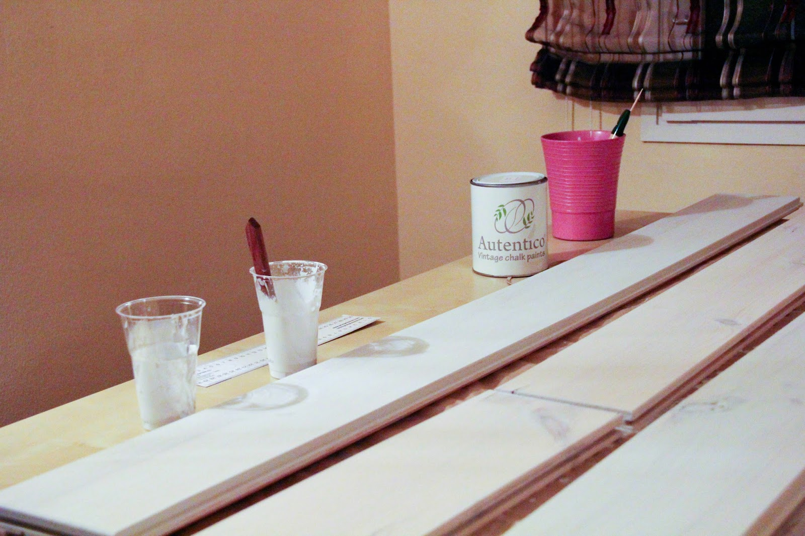 Cabecero Palets Diy Chalk Paint Handbox Craft Lovers  # Muebles Efecto Lavado