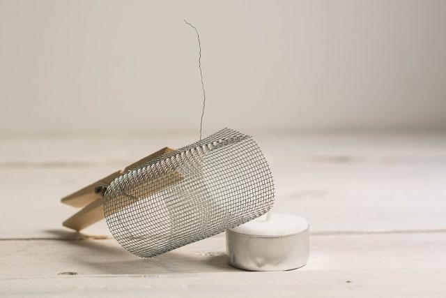 formar cilindro de malla uniéndolo con alambre missoluciones-pángala