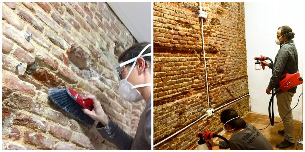 5 pared ladrillos