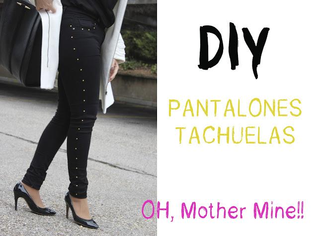 DIY pantalones con tachuelas. Blog de moda, costura y DIY.