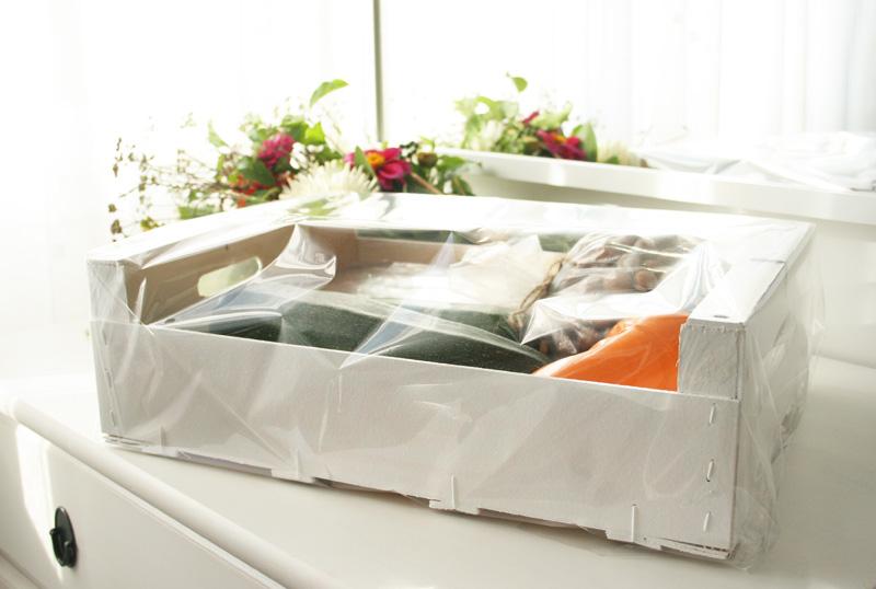 Regalo sano DEF Deco: Caja de fruta tuneada con productos de la huerta7