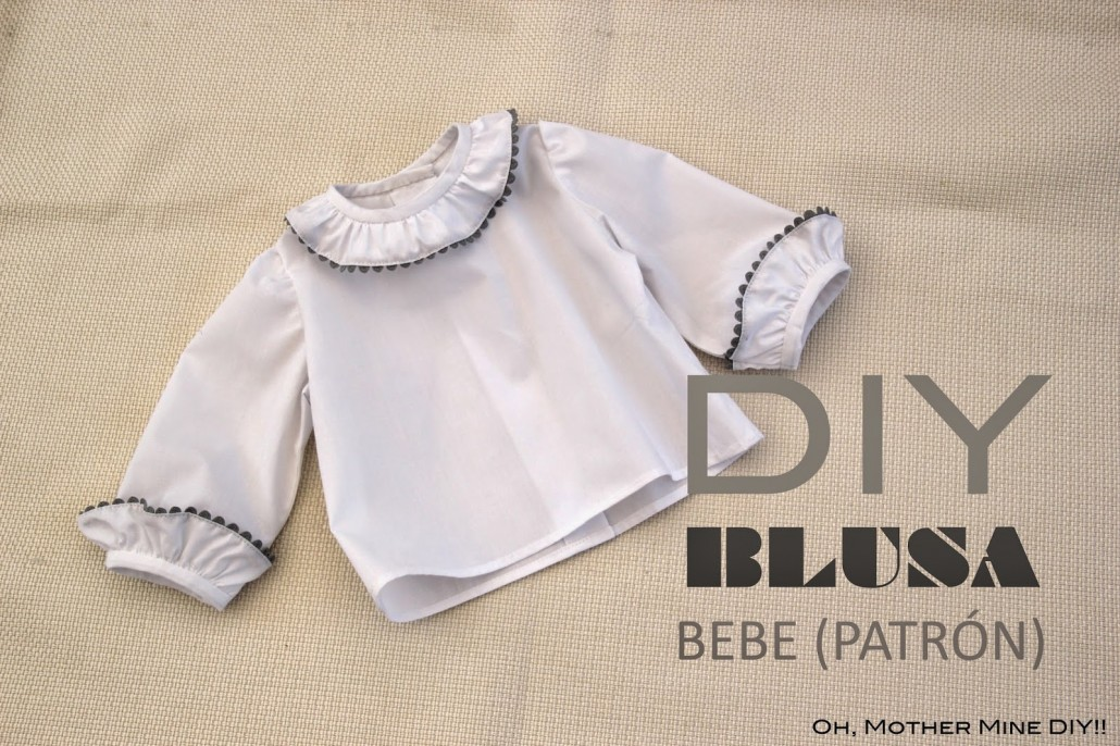 DIY Costura blusa para bebé