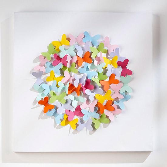 DIY - Cuadro de mariposas en 3D - Handbox Craft Lovers | Comunidad ...