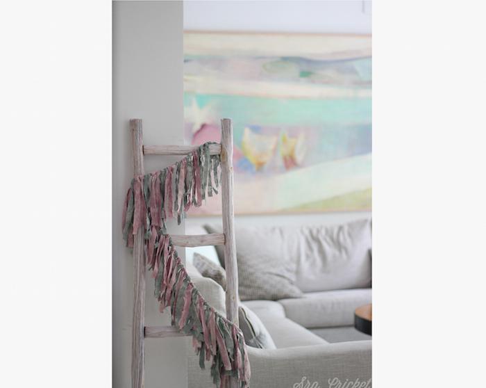 escalera decoracion guirnalda diy
