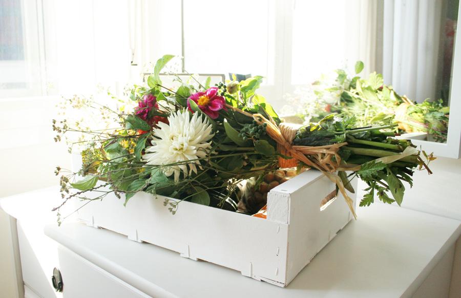 Regalo sano DEF Deco: Caja de fruta tuneada con productos de la huerta8