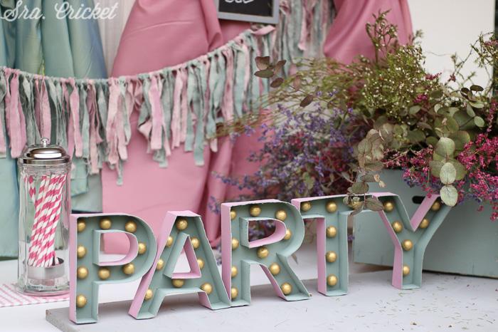 letras de carton para fiestas