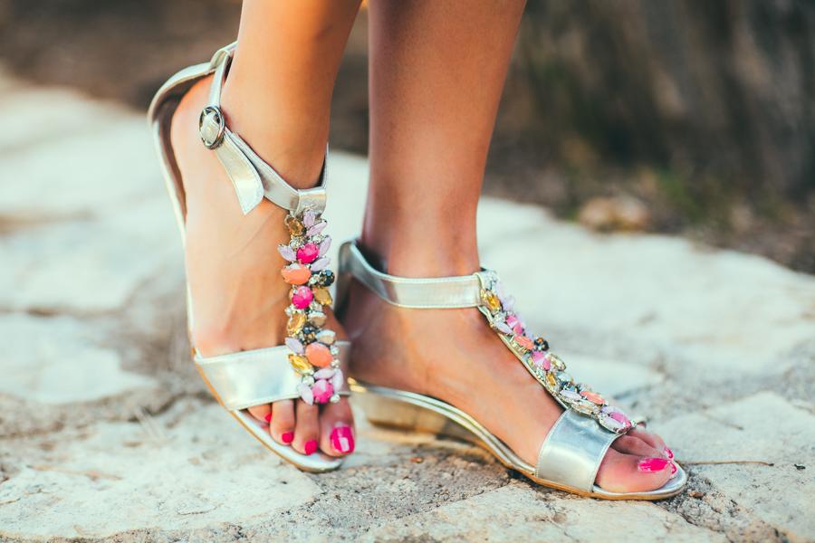 customizar sandalia plana diy