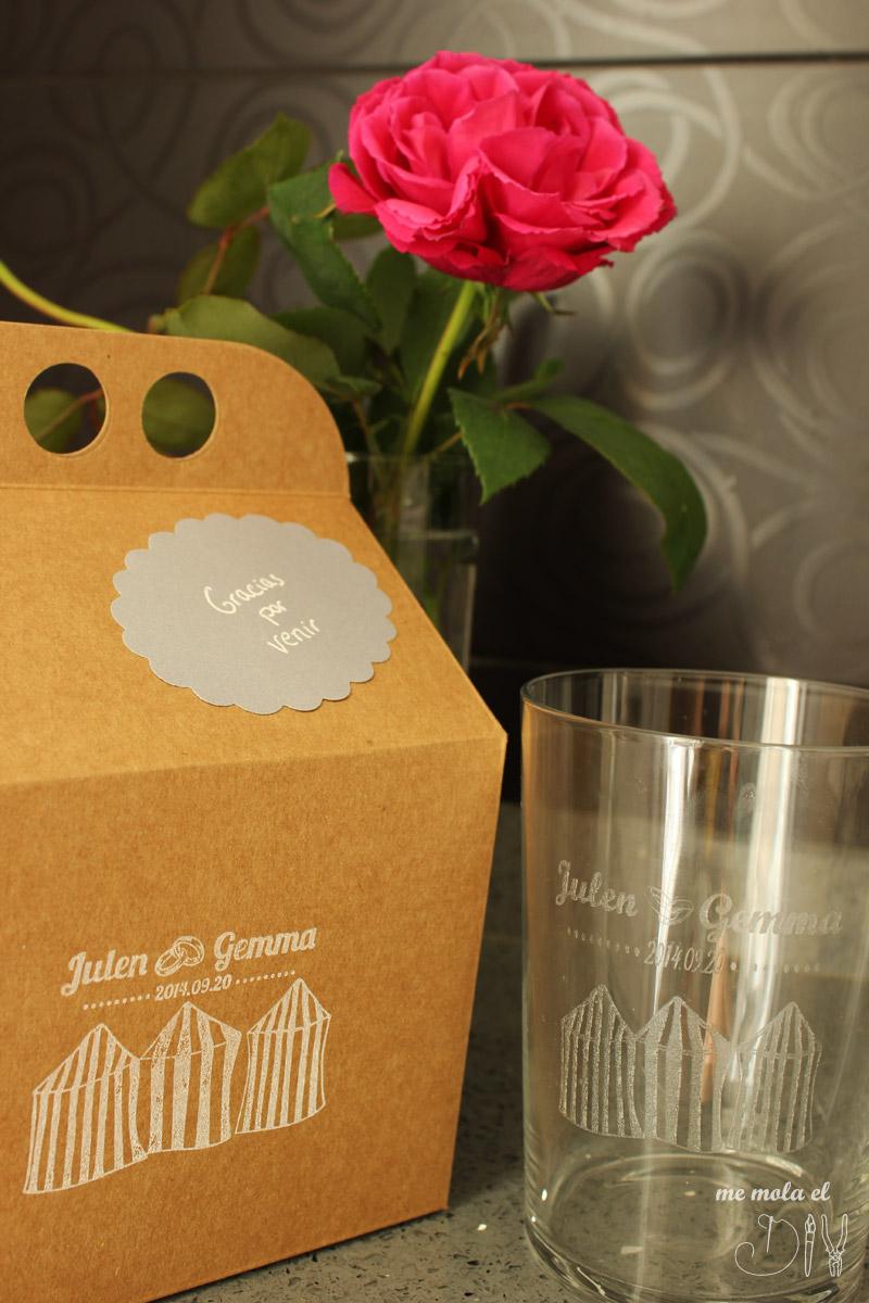 detalles de boda personalizados vasos grabados