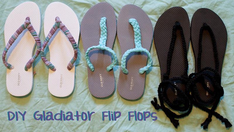 diy sandalias flip flop