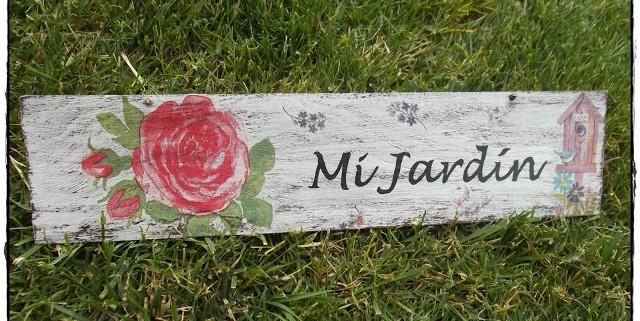 CARTEL PARA EL JARDIN - Handbox Craft Lovers   Comunidad DIY ...