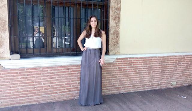 transformación de vestido a falda