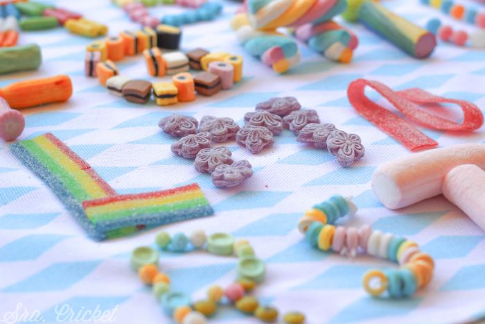 abecedario con dulces