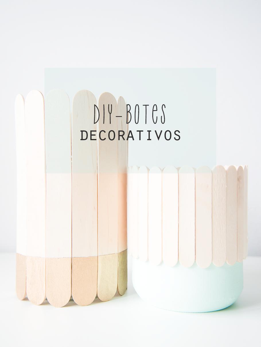 Diy, botes decorativos