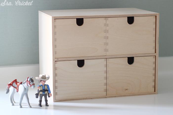 caja de madera ikea para customizar