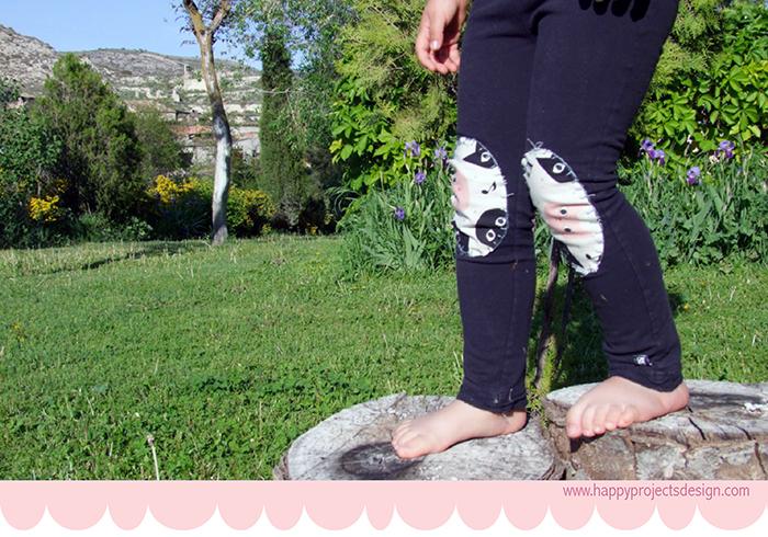 leggings personalizados con rodilleras de tela