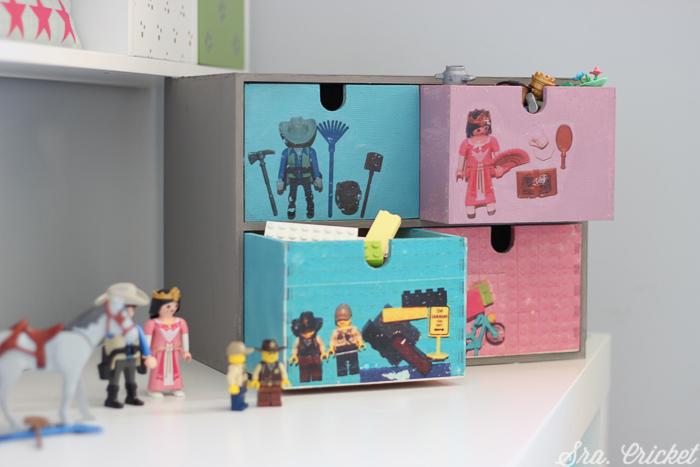 organizador para piezas de juguetes