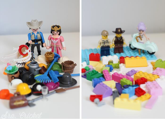 piezas de playmobil y lego