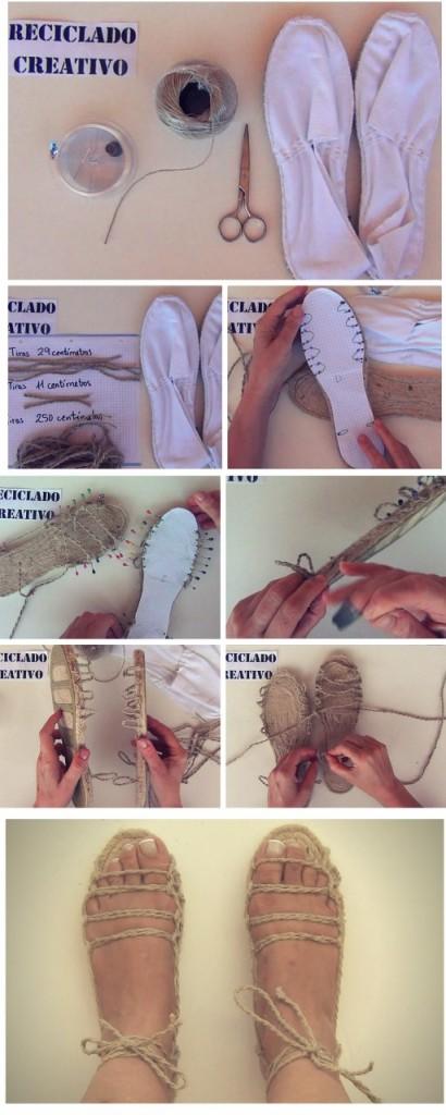Cómo hacer 20 sandalias con una sola suela