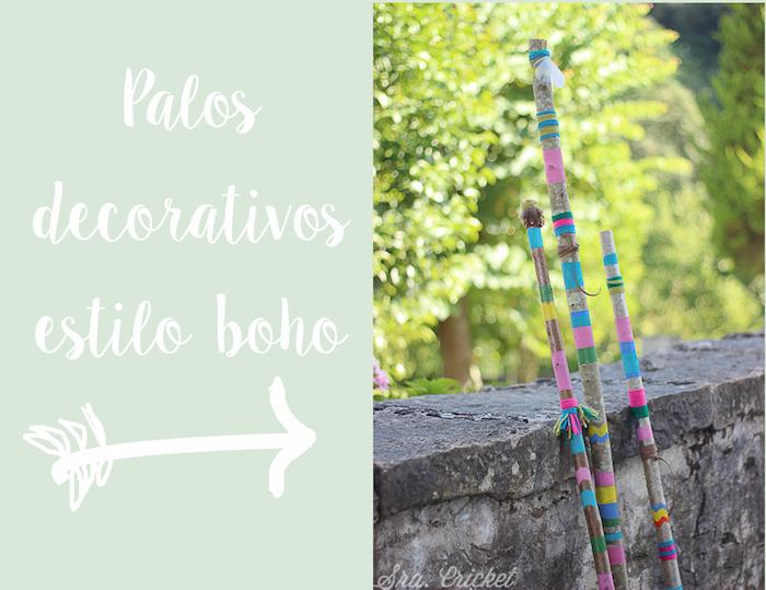 palos decorativos estilo boho
