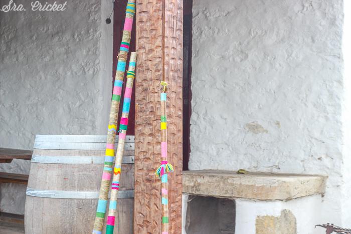 palos decorativos estilo indio
