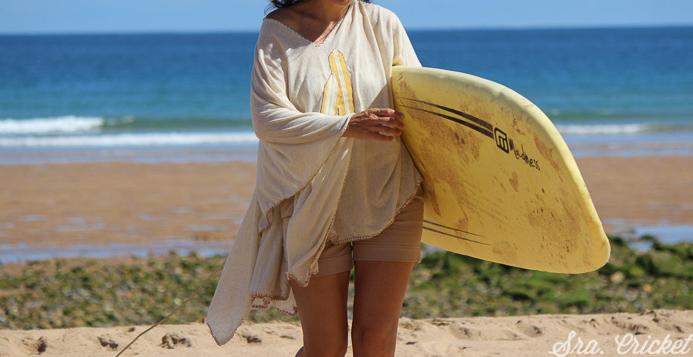 poncho para la playa