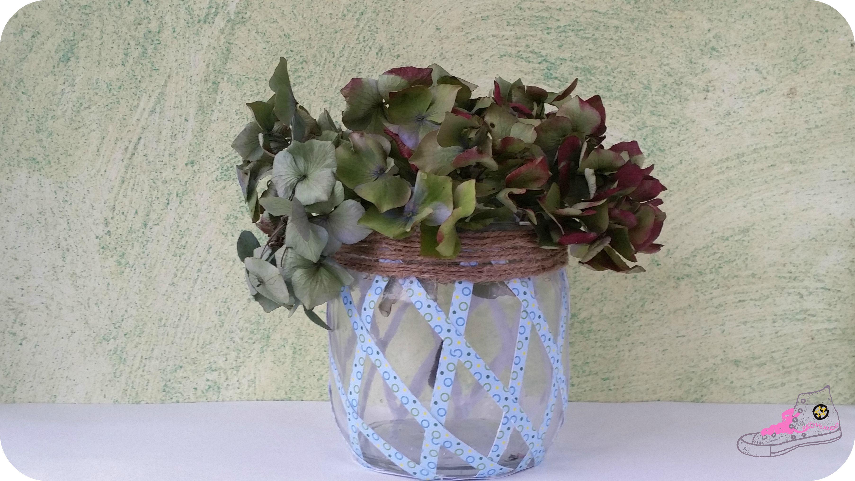 tarro customizado para florero