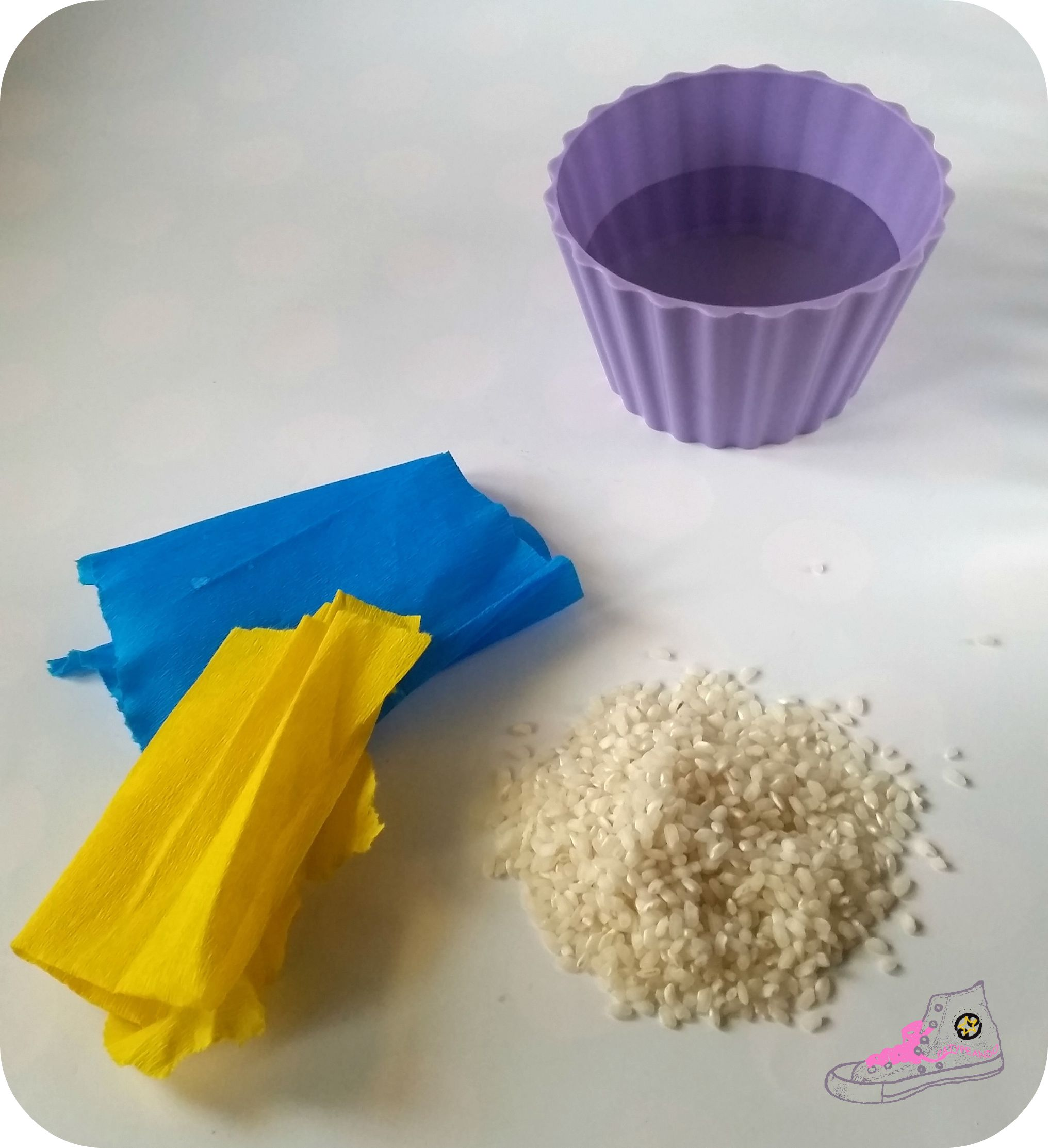 tiñiendo arroz